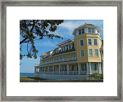 Ocean House Side View - Watch Hill Framed Print by Anna Lisa Yoder