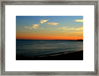 Framed Print featuring the photograph Ocean Hues No. 2 by Neal Eslinger