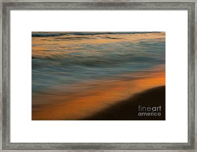 Wave Impressions  Framed Print