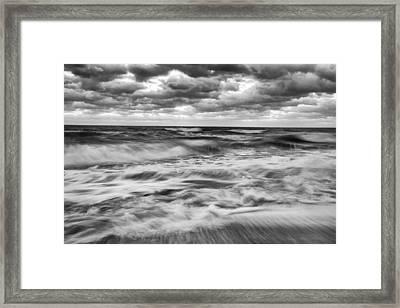 Ocean In Flux Framed Print by Jon Glaser