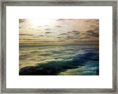 Ocean In The Sky Framed Print
