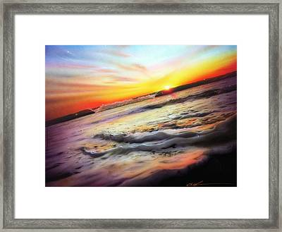 Ocean - ' Ocean Infinity ' Framed Print by Christian Chapman Art