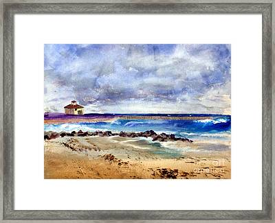Ocean  Inlet Beach In Boynton Beach Framed Print