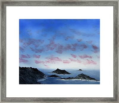 Ocean Islands Framed Print by Jennifer Muller
