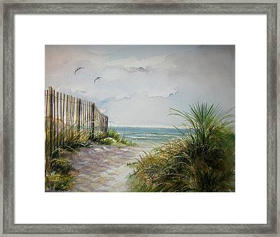Ocean Isle Beach Sold Framed Print