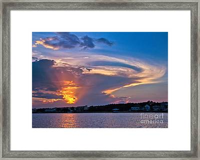 Framed Print featuring the photograph Ocean Isle Sunset by Jemmy Archer
