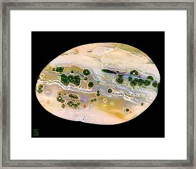 Ocean Jasper Cabochon Opus01 Framed Print by Rock Hound