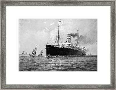 Ocean Liner 'ryndam Framed Print by Granger