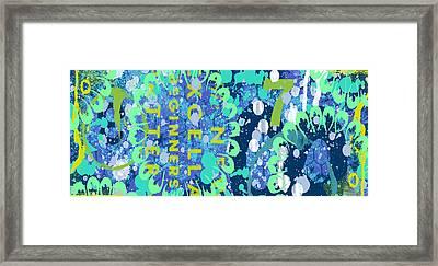 Framed Print featuring the digital art Ocean by Lisa Noneman