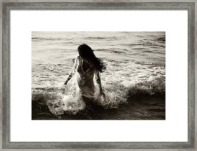 Ocean Mermaid Framed Print