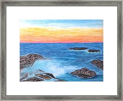 Ocean Mist Framed Print
