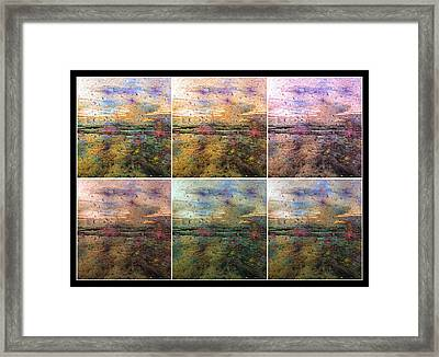 Ocean Morning Vi Framed Print by Betsy Knapp