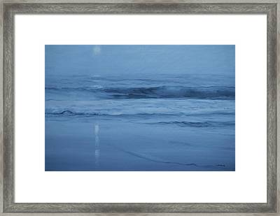 Ocean Nocturne Framed Print by Richard Hinger