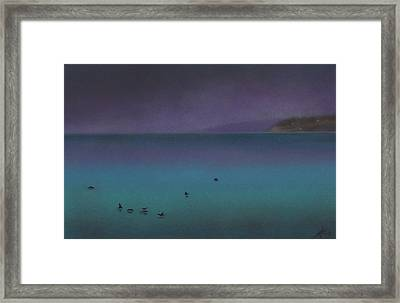 Ocean Of Glass With Seabirds Framed Print