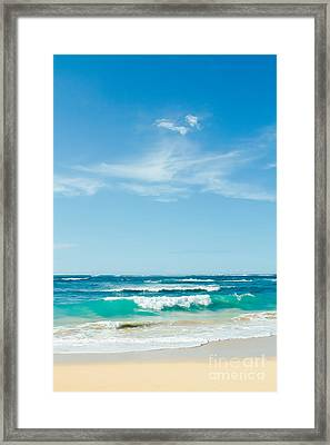 Framed Print featuring the photograph Ocean Of Joy by Sharon Mau