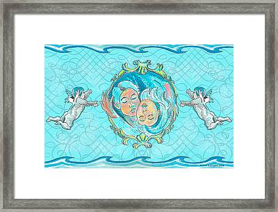 Framed Print featuring the painting Ocean Of Love by John Keaton