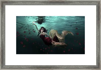 Ocean Of Roses Framed Print