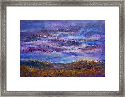 Framed Print featuring the painting Nightlight by Mary Schiros