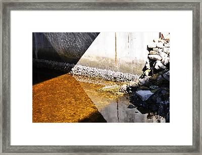 Ocean Photography - Under The Bridge 2 - By Sharon Cummings Framed Print by Sharon Cummings