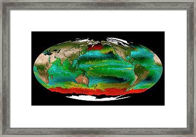 Ocean Phytoplankton Types Framed Print by Mit Darwin Project/ecco2/mitgcm/nasa
