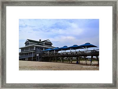 Ocean Pier And Restaurant Framed Print