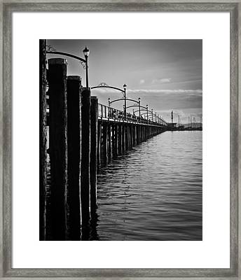 Ocean Pier In Black And White II Framed Print