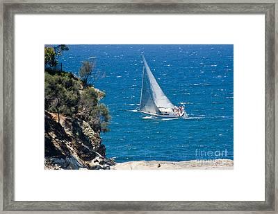 Ocean Racing II Framed Print by Steven Ralser