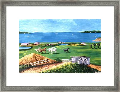 Framed Print featuring the painting Ocean Ranch by Lance Headlee