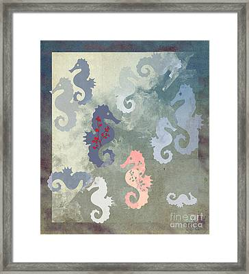 The Ocean Riders Framed Print by Ruta Naujokiene