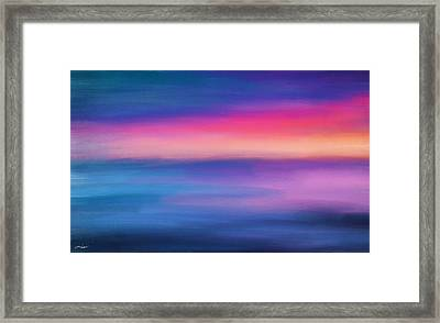 Ocean Rises Framed Print by Lourry Legarde