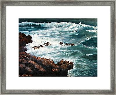 Ocean Rocks  Framed Print