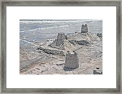 Ocean Sandcastles Framed Print by Betsy Knapp