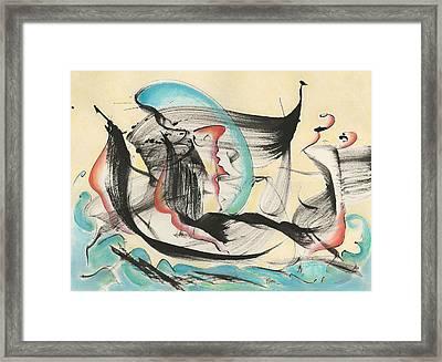 Ocean Ships Framed Print by Asha Carolyn Young