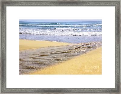 Ocean Shore Framed Print by Elena Elisseeva