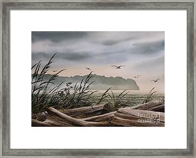 Ocean Shore Framed Print by James Williamson