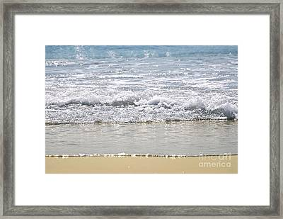 Ocean Shore With Sparkling Waves Framed Print