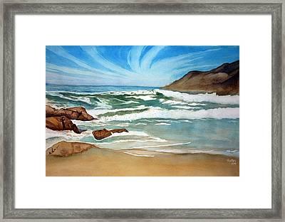 Ocean Side Framed Print by Rick Huotari