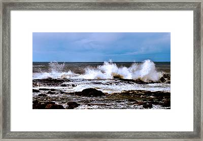 Framed Print featuring the photograph Ocean Spray 2 by Joseph Hollingsworth