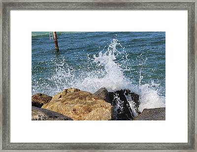 Framed Print featuring the photograph Ocean Spray by John Mathews