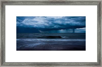 Ocean Storm Panorama Framed Print
