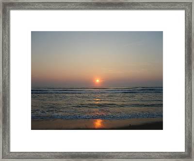 Ocean Sunrise Framed Print by Deborah May