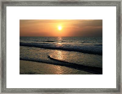 Ocean Sunrise Over Myrtle Beach Framed Print