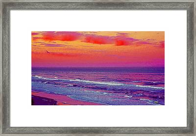 Ocean Sunset 1 Framed Print