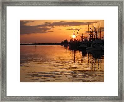 Ocean Sunset 3rd Framed Print by Shirley Sirois