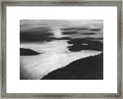 Ocean Sunset Framed Print by Angie Brown