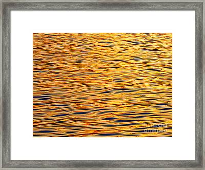 Ocean Sunset Framed Print by Carol F Austin