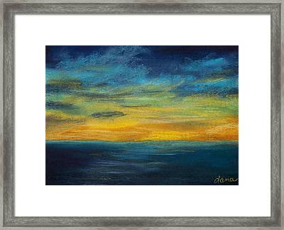 Ocean Sunset Framed Print by Dana Strotheide