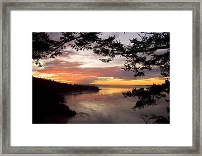 Ocean Sunset Deception Pass Framed Print by Yulia Kazansky