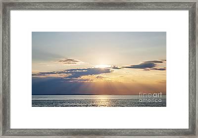 Ocean Sunset Framed Print by Elena Elisseeva