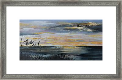 Ocean Sunset Framed Print by Ken Ahlering